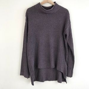 Umgee Mock Neck Oversized Knit Sweater